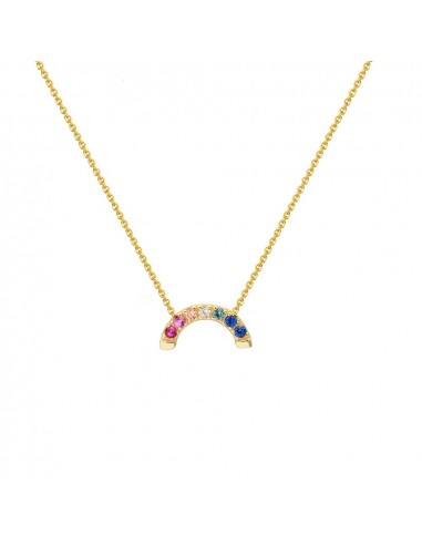 "Collar Lowlita & You ""Mini rainbow oro"""