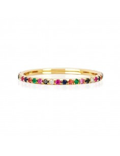 "Anillo Kommo ""Rainbow gold"""