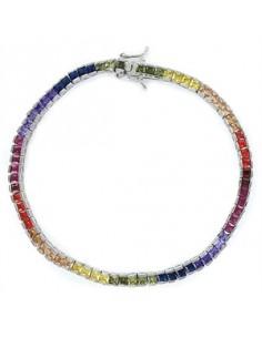 Pulsera multicolor plata...