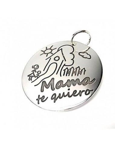 "Colgante plata ""mamá te quiero"" 26955"